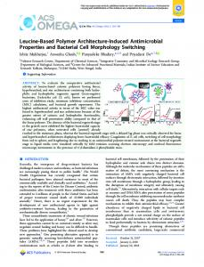 Leucine-Based Polymer Architecture-Induced ... - ACS Publications