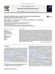 Leukemia inhibitory factor impairs structural and neurochemical ...