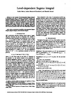 Level-dependent Sugeno integral - School of Computer Science and ...