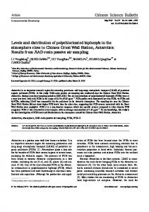 Levels and distribution of polychlorinated biphenyls in ... - Springer Link