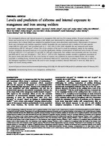 Levels and predictors of airborne and internal exposure to ... - Nature