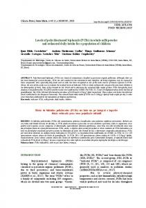 Levels of polychlorinated biphenyls (PCBs) in whole milk ... - Scielo.br