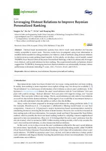Leveraging Distrust Relations to Improve Bayesian ... - MDPI