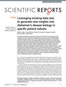 Leveraging existing data sets to generate new