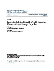 Leveraging Relationships with Web 2.0 ... - Virtual Communities