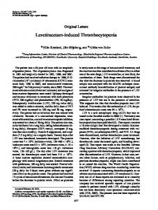 Levetiracetam-induced Thrombocytopenia - Wiley Online Library