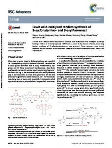 Lewis acid-catalyzed tandem synthesis of 9