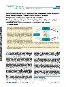 Lewis Base Passivation of Hybrid Halide Perovskites