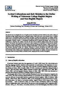 Lexical Collocations and their Relation to the Online Writing of ...