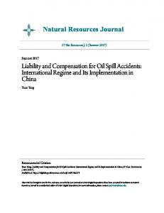 Liability and Compensation for Oil Spill Accidents - UNM Digital ...