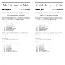 Lib Mills French Language cards - Middlebury College