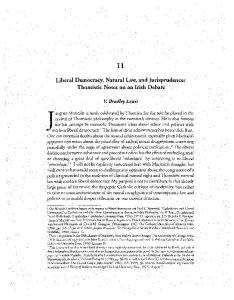 Liberal Democracy, Natural Law, and Jurisprudence: Thomistic ...