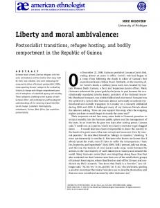 Liberty and moral ambivalence - Wiley Online Library