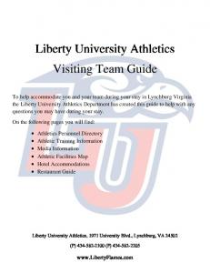 Liberty University Athletics Visiting Team Guide