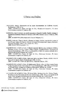 LIBROS RECIBIDOS - Centro Virtual Cervantes