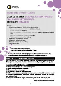 licence mention langues, litteratures et civilisations ... - Platine