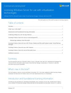 Licensing Windows Server 2012 R2 for use with virtualization ...