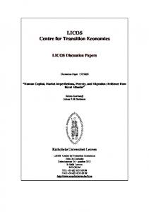 LICOS Centre for Transition Economics