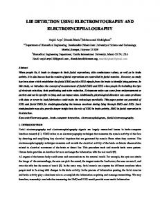 lie detection using electromyography and