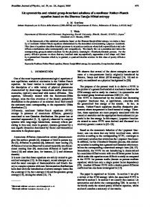 Lie symmetries and related group-invariant solutions of a nonlinear ...