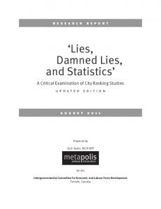 Lies, Damned Lies, and Statistics - metapolis