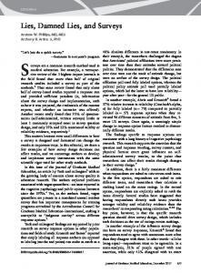 Lies, Damned Lies, and Surveys - The Journal of Graduate Medical ...