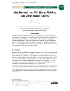 Lies, Damned Lies, AVs, Shared Mobility, and ... - Scholar Commons