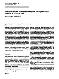 Life cycle analysis of management options for organic waste collected ...