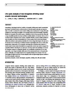 Life cycle analysis of two Hungarian drinking water arsenic removal ...