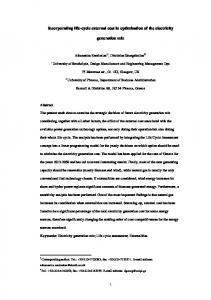Life Cycle Assessment of Power Generation Systems - You have ...