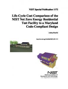Life-Cycle Cost Comparison of the NIST Net Zero Energy - NIST Page