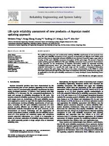 Life cycle reliability assessment of new products ... - Semantic Scholar