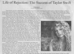 Life of Rejection: The Success of Taylor Swift - Phillip Spencer