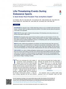 Life-Threatening Events During Endurance Sports - Core
