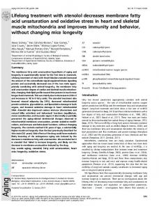 Lifelong treatment with atenolol decreases ... - Wiley Online Library