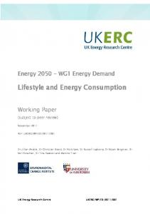 Lifestyle and Energy Consumption - ukerc