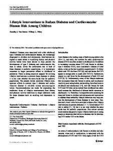 Lifestyle Interventions to Reduce Diabetes and ... - BioMedSearch
