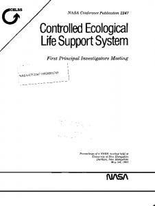 LifeSupportSystem - NASA Technical Reports Server (NTRS)