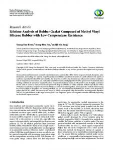 Lifetime Analysis of Rubber Gasket Composed of Methyl Vinyl Silicone ...
