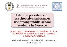 Lifetime prevalence of psychoactive substances use ...