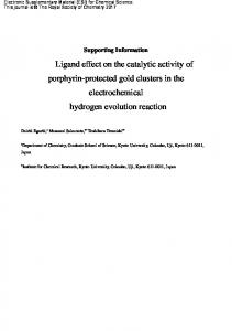 Ligand effect on the catalytic activity of porphyrin-protected gold ...