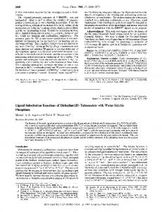Ligand Substitution Phosphines Reactions of Dirhodium(I1 ...