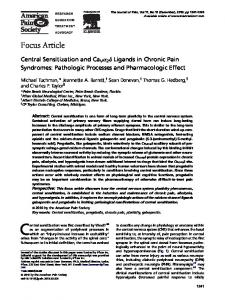 Ligands in Chronic Pain Syndromes - Journal of Pain, The