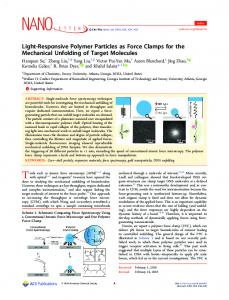 Light-Responsive Polymer Particles as Force ... - ACS Publications