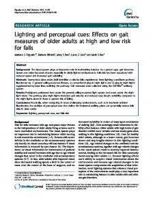 Lighting and perceptual cues: Effects on gait