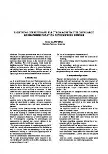 lightning currents and electromagnetic fields in ... - teleinfo.pb.edu.pl