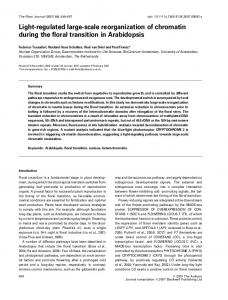 Lightregulated largescale reorganization of ... - Wiley Online Library