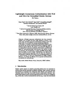 Lightweight Anonymous Authentication with TLS and DAA for ...