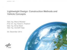 Lightweight Design - eLib - DLR