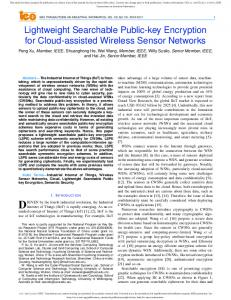 Lightweight Searchable Public-key Encryption for Cloud ... - IEEE Xplore